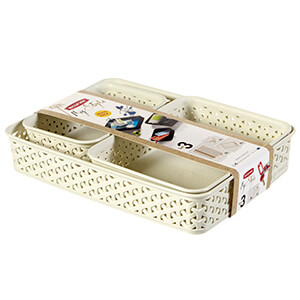 My Style Rattan Set of 3 Cream