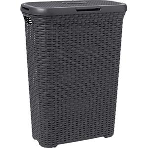 Style Rattan REC Hamper 60L Charcoal