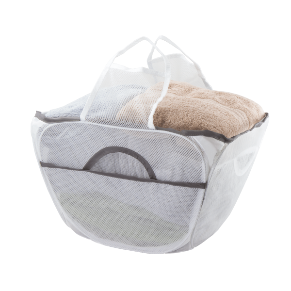 Pop open pop up washing basket