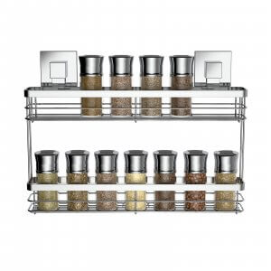 Suction Double Spice Rack